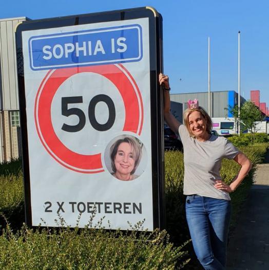 Sophia is 50 jaar geworden.