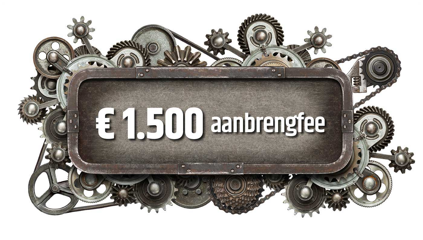 Vind jij de techneut die wij zoeken? Dan kun je een aanbrengfee van € 1.500,- ontvangen!